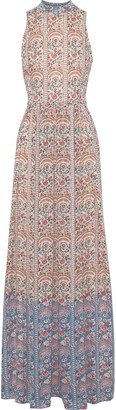 Mikael Aghal Floral-print Jacquard Gown