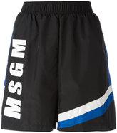 MSGM logo print shorts - women - Polyamide/Polyester - 40
