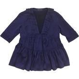 Burberry Purple Silk Top