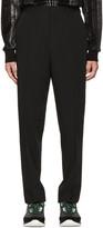 Lanvin Black Wool Worker Trousers