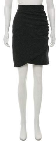 Wool-Blend Knee-Length Skirt