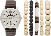 Arizona Mens Brown 6-pc. Watch Boxed Set-Fmdarz547