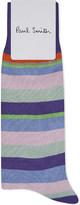 Paul Smith Mens Orange Striped Timeless Socks