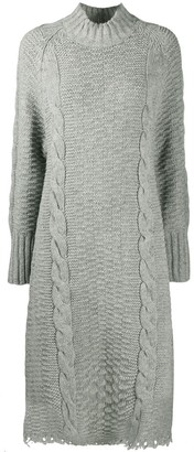 Jil Sander Knitted Funnel Neck Dress