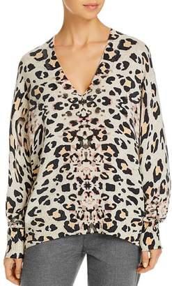 Brochu Walker Kelso Leopard-Printed Cashmere Sweater