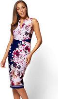 New York & Co. 7th Avenue - Split-Neck Sheath Dress - Floral - Petite