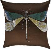 Fornasetti Libellula & Malachite Cotton-Blend Pillow