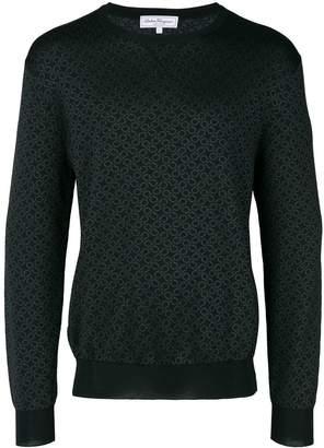 Salvatore Ferragamo Double Gancini print sweatshirt