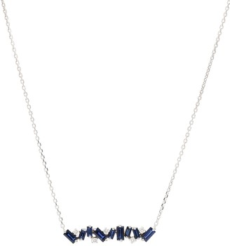 Suzanne Kalan 18kt White Gold Necklace With Sapphires And Diamonds