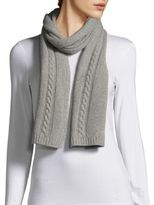 Portolano Cable-Knit Solid Scarf