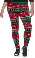 It's Our Time Its Our Time Juniors' Plus Size Print Holiday Leggings