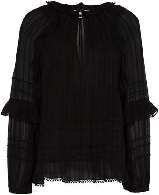 Etoile Isabel Marant Jayden keyhole neckline ruffled blouse