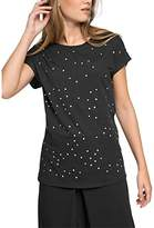 Esprit Women's Starred Short Sleeve T-Shirt - Black -