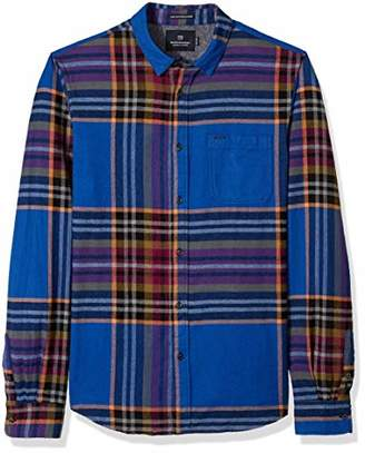 Scotch & Soda Men's Multi-Colour Checked Shirt in Brushed Flannel Quality