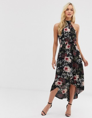 AX Paris high neck midi dress-Black