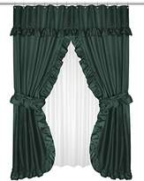Carnation Home Fashions Fscd-L/27 Lauren Double Swag Shower Curtain, Evergreen