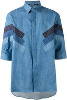 Neil Barrett denim stripe shirt - men - Silk/Cotton/Polyester - 39