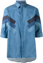 Neil Barrett denim stripe shirt - men - Silk/Cotton/Polyester - 40