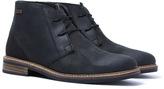 Barbour Readhead Black Leather Desert Boots