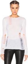 R 13 Lightweight Shredded Sweater
