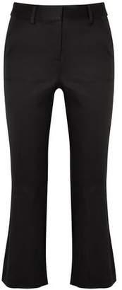 Frame Cropped Satin-crepe Bootcut Pants