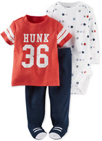 Carter's Baby Boys' 3-Pc. Little All-Star T-Shirt, Bodysuit & Footed Pants Set