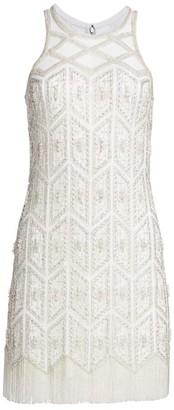 Joanna Mastroianni Embroidered Sleeveless Cocktail Sheath Dress