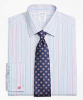 Brooks Brothers Non-Iron Milano Fit Hairline Track Stripe French Cuff Dress Shirt