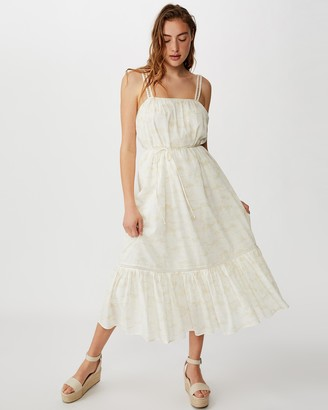 Cotton On Woven Meadow Tiered Midi Dress