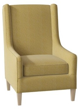 Hekman Adriana Wingback Chair Body Fabric: 5576-232, Leg Color: Antique Vanilla, Seat Cushion Fill: Standard