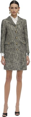 Gucci Short Flamed Tweed Quilted Coat