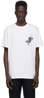 Rag & Bone White Comic Bull T-Shirt