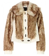 LEATHER AND FAUX-FUR JACKET