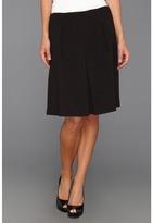 Nine West Crepe Pleated Skirt (Black) - Apparel