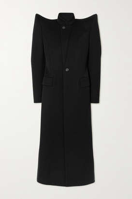 Balenciaga Wool-twill Coat - Black