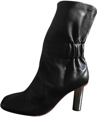 Proenza Schouler Black Leather Ankle boots