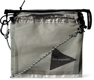 And Wander - Logo-Print Cuben Fibre Messenger Bag - Men - White