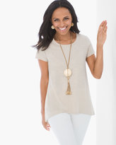 Chico's Foiled Cotton Slub High-Low Tee