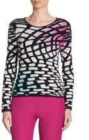Armani Collezioni Intarsia-Knit Wool Sweater