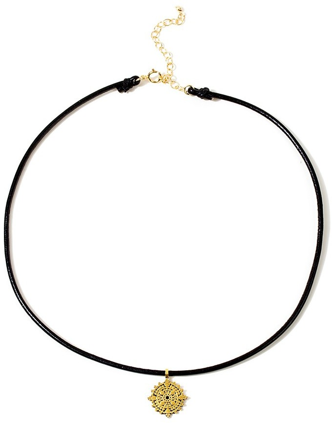Dogeared Mandala Choker Necklace, 12""