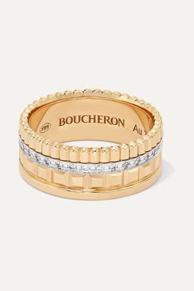 Boucheron Quatre Radiant Edition Small 18-karat Gold Diamond Ring - 52