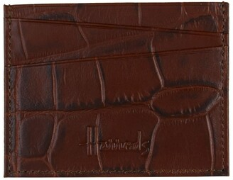 Harrods Crocodile Embossed Leather Cardholder