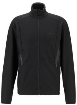 HUGO BOSS Zip-through sweatshirt in active-stretch S.Cafe fabric