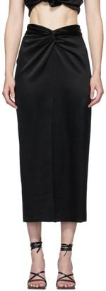 Nanushka Black Satin Twisted Samara Skirt