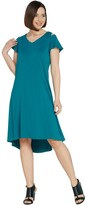 Halston H By H by Petite Knit Crepe Dress with Cutout Detail