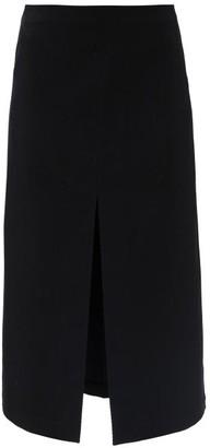 Sara Lanzi Wool-blend Twill Midi Skirt - Black