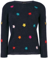 Roberto Collina floral embroidered jumper