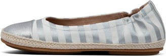 FitFlop Allegro Metallic-Stripe Canvas Ballet Flats