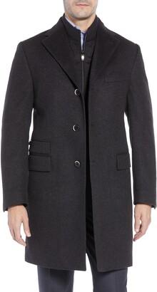 Corneliani Solid Wool Overcoat