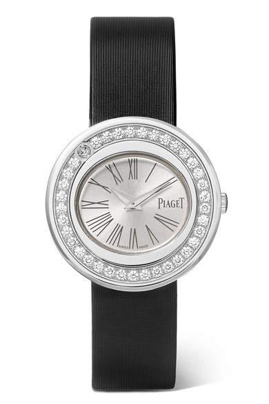 Piaget Possession 29mm 18-karat White Gold, Satin And Diamond Watch